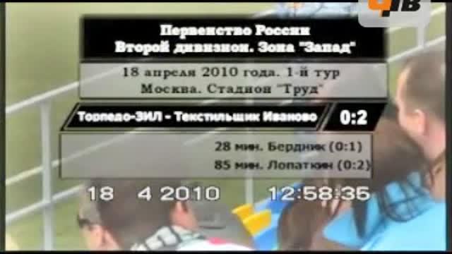 """""""Торпедо-ЗИЛ"""" - """"Текстильщик"""" - 0:2"""