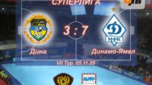 """""""Дина"""" - """"Динамо-Ямал"""" 3:7"""