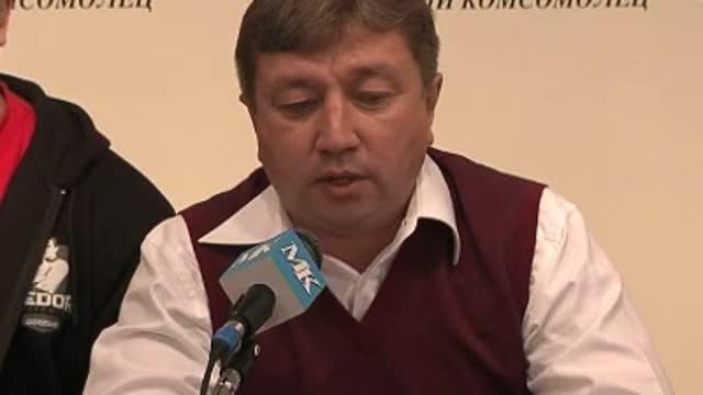 Пресс-конференция Федора Емельяненко. Часть 1