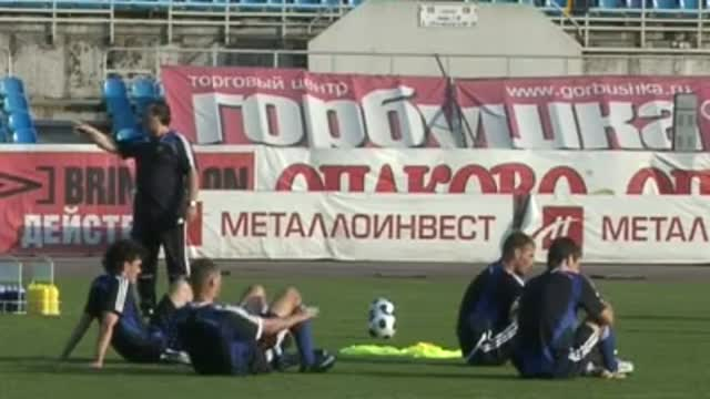Тренировка сборной России.