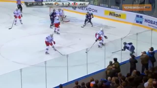 """Видео. 2:2 Потехин (""""Металлург"""" Мг) сравнивает счёт"""