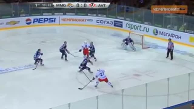 """Видео. 0:1 Малыхин (""""Автомобилист"""") открывает счёт в матче"""