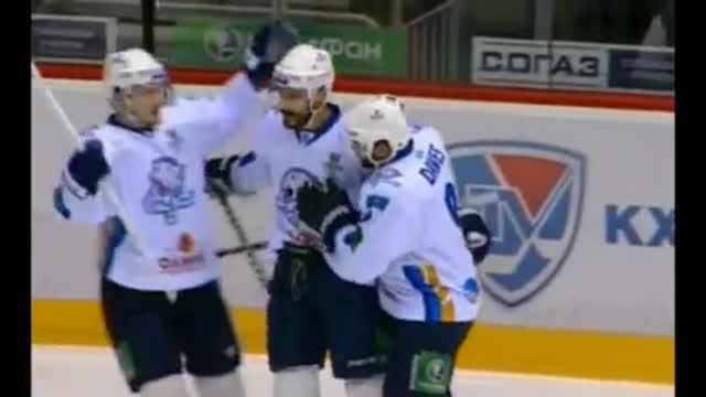 """Видео. 0:1 Боченски (""""Барыс"""") открывает счёт в матче"""